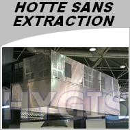 Hotte Professionnelle Sans Evacuation Exterieure Largeur 1500mm